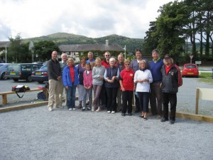 New petanque players at the Groes Inn in North Wales.