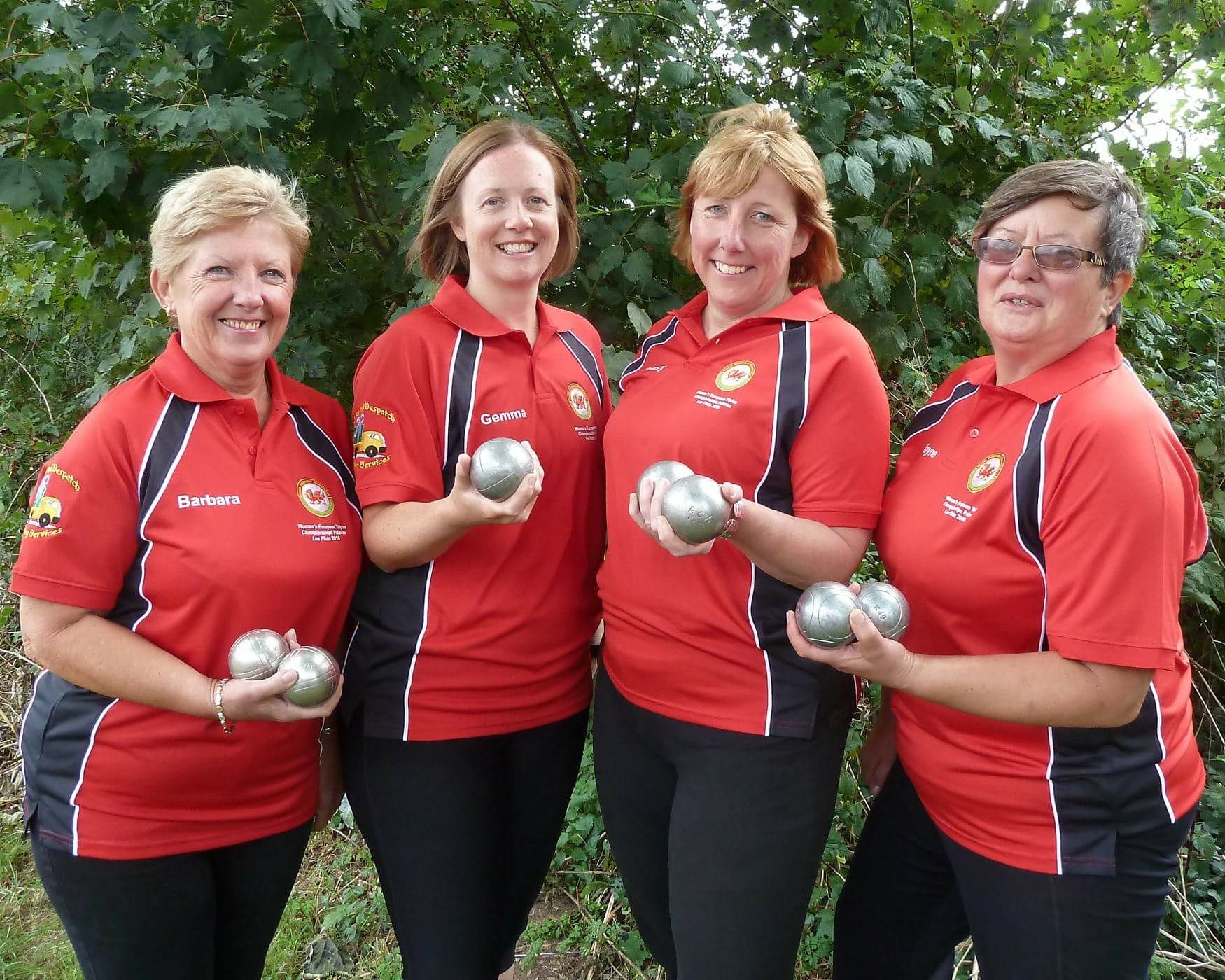 Wales Women's Triples Squad 2018. Barbara Vaughan, Gemma Foster, Tansy Mayfield and Jayne Dunn